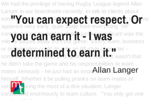 Lessons from Allan Langer
