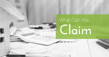 What can I claim against my tax?